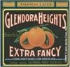 Glendora Heights Extra Fancy citrus crate label