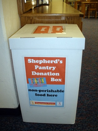 Shepherd's Pantry donation box