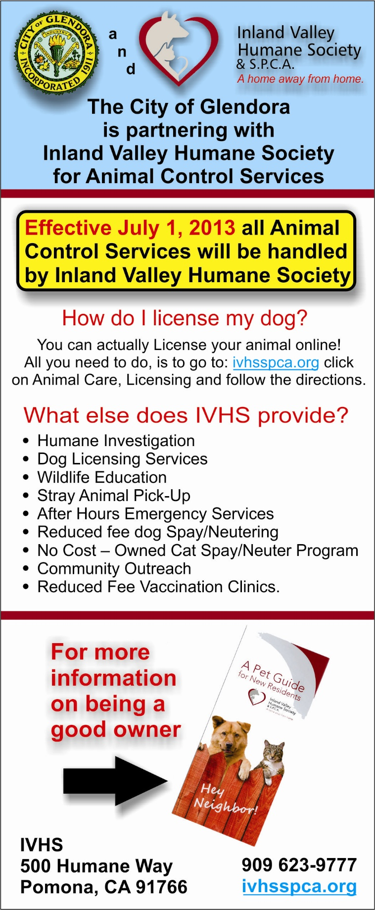 Glendora partnership IVHS