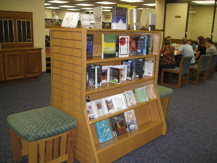 Newly arrived books on display