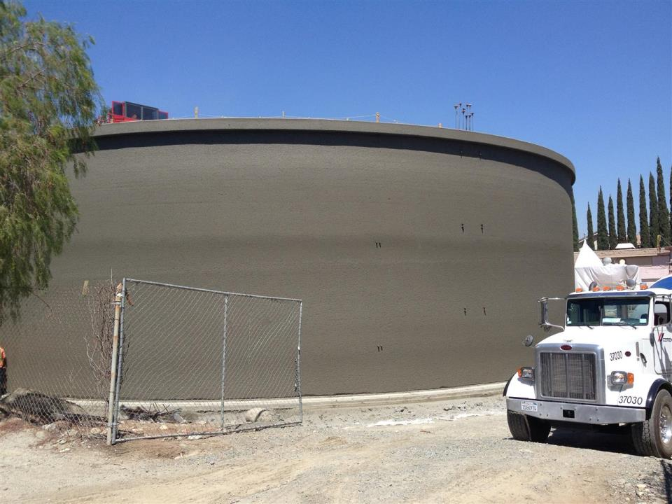 CIP 1 million gallon reservoir at San Gabriel Plant