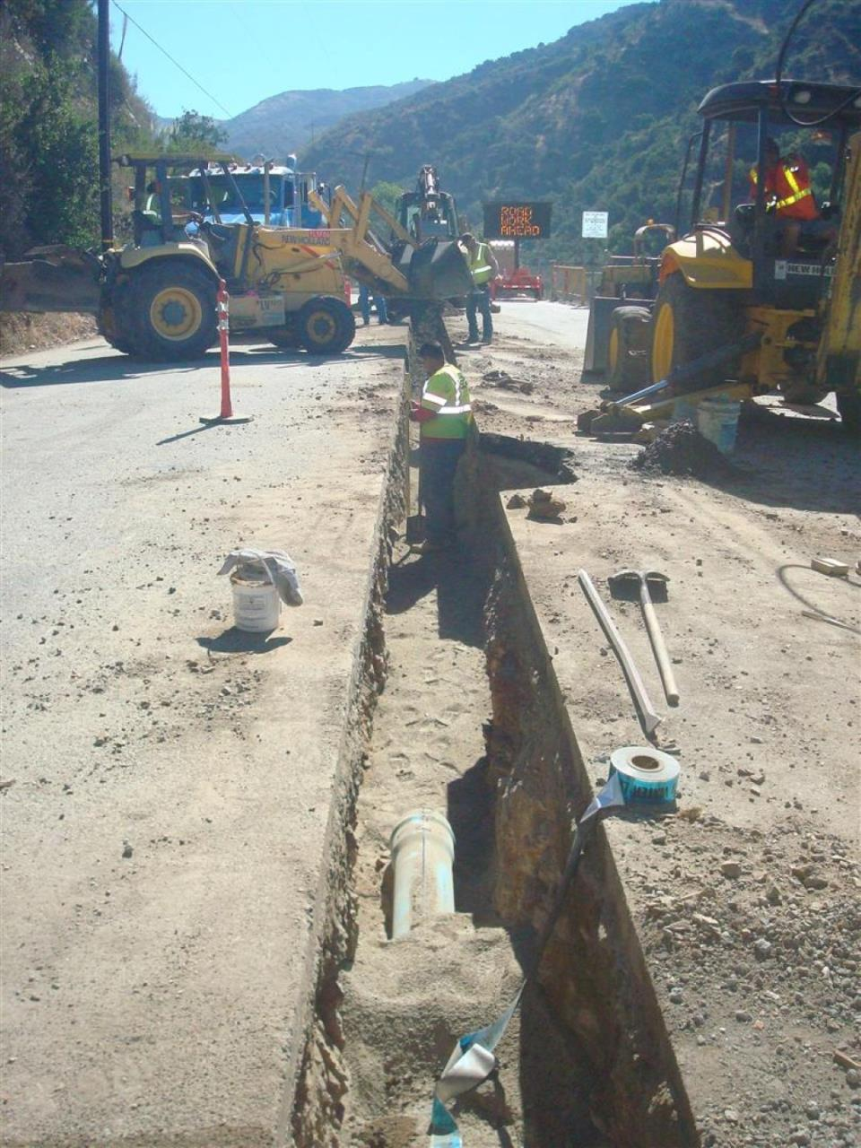 CIP 6-inch and 8-inch water main replacement in Big Dalton Canyon