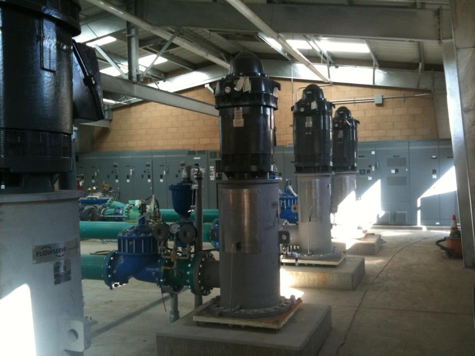 CIP New pump station at San Gabriel Plant
