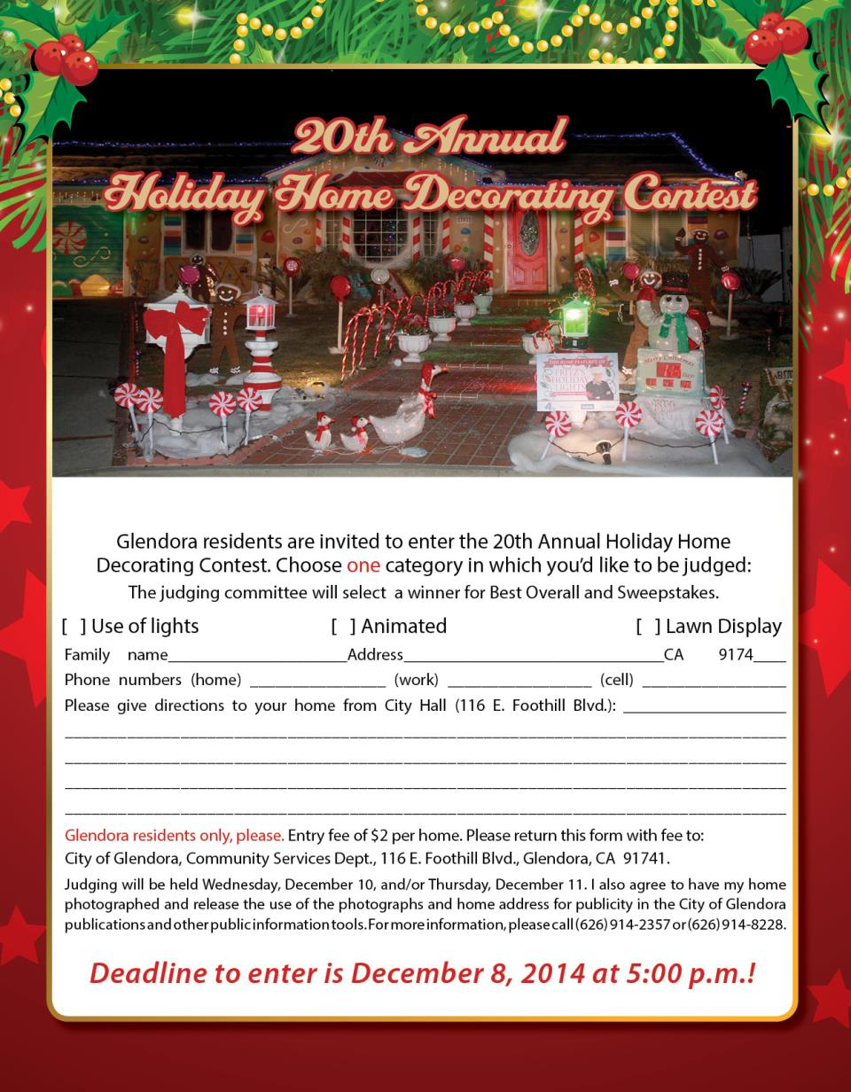 20th Annual Holiday Home Decorating Contest | Event Calendar | City ...
