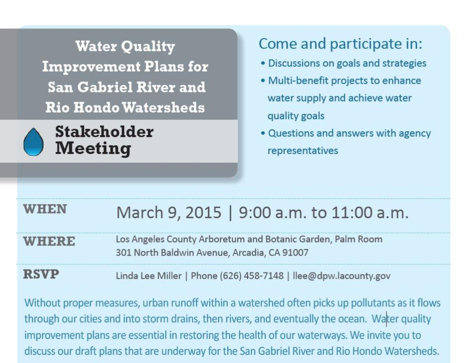 2015 Water Quality Event