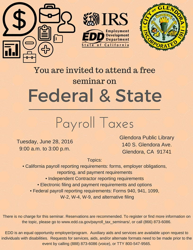 Federal and State Payroll Taxes