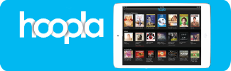 HOOPLA e-books, audio books, comic books, streaming movies, TV shows and music