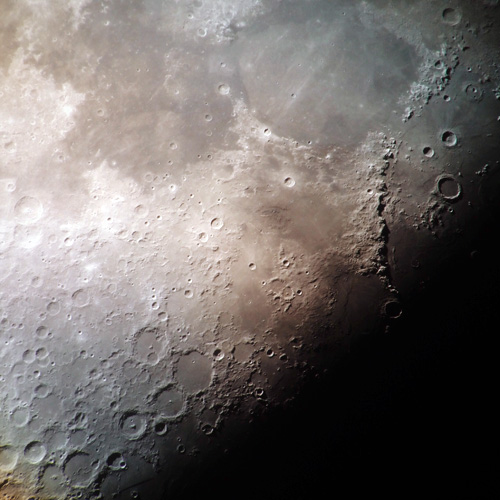 Closeup photo of the moon's surface