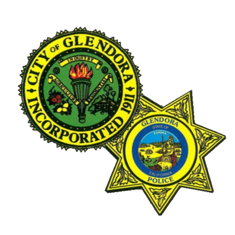 Glendora City Seal and the Glendora Police Department Badge