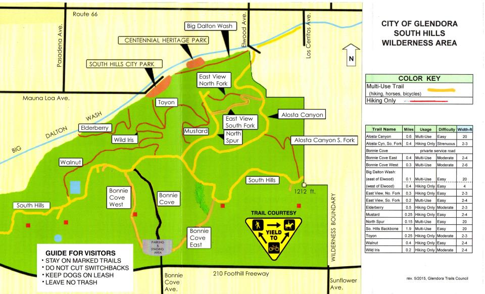 Azusa Canyon Fire Map.Trails City Of Glendora