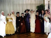 Ladies wearing early 20th Century fashions at the Centennial Celebration